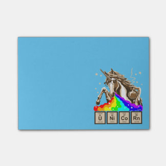 Chemistry unicorn pukes rainbow post-it® notes
