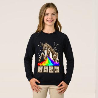 Chemistry unicorn pukes rainbow sweatshirt