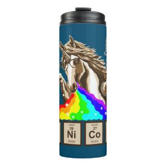 Chemistry unicorn pukes rainbow thermal tumbler