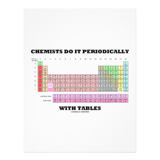 Chemists Do It Periodically With Tables 21.5 Cm X 28 Cm Flyer