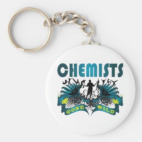 Chemists Gone Wild Basic Round Button Key Ring