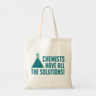 Chemists Have All The Solutions Budget Tote Bag