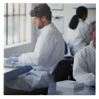 Chemists Working in a Laboratory Tile