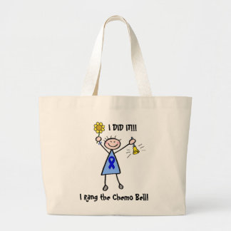 Chemo Bell - Blue Ribbon Woman Tote Bags