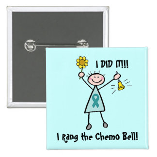Chemo Bell - Cervical Cancer 15 Cm Square Badge