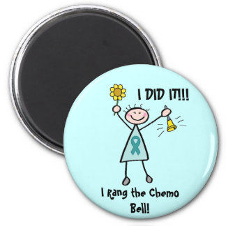 Chemo Bell - Cervical Cancer 6 Cm Round Magnet