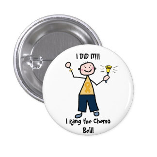 Chemo Bell - Childhood Cancer Gold Ribbon 3 Cm Round Badge