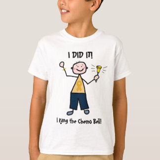 Chemo Bell - Childhood Cancer Gold Ribbon T Shirts