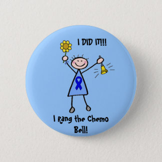 Chemo Bell - Colon Cancer Woman 6 Cm Round Badge