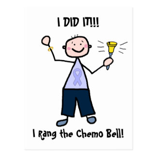 Chemo Bell - General Cancer Male Postcard