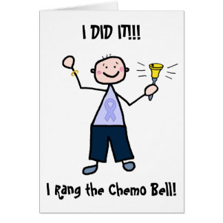 Chemo Bell - Lavender Ribbon Male Greeting Card