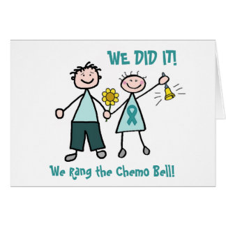 Chemo Bell - Ovarian Cancer Teal Ribbon Greeting Card