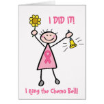 Chemo Bell - Pink Ribbon Breast Cancer Greeting Card