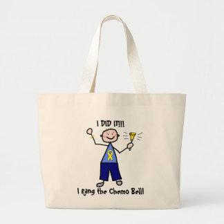 Chemo Bell - Yellow Ribbon Testicular Cancer Jumbo Tote Bag