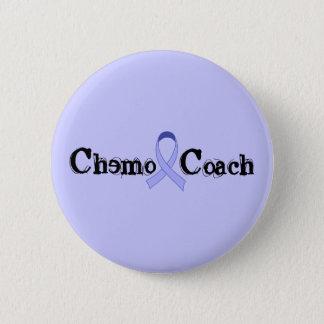 Chemo Coach - General Cancer Lavender Ribbon 6 Cm Round Badge