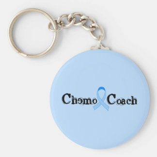Chemo Coach Prostate Cancer Basic Round Button Key Ring