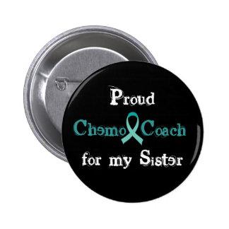 Chemo Coach Sister Button