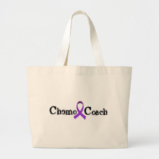 Chemo Coach - Violet Ribbon Large Tote Bag