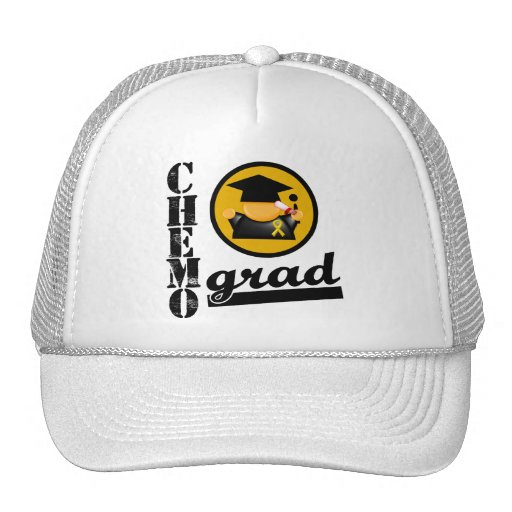 Chemo Grad Appendix Cancer Ribbon Mesh Hats