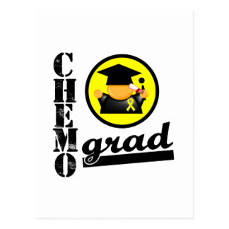 Chemo Grad Bladder Cancer Ribbon Postcard