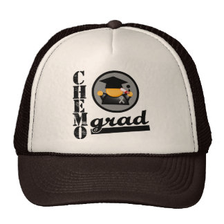 Chemo Grad Brain Cancer Ribbon Trucker Hat