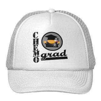 Chemo Grad Brain Cancer Ribbon Mesh Hats