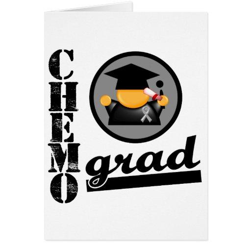 Chemo Grad Brain Cancer Ribbon Cards