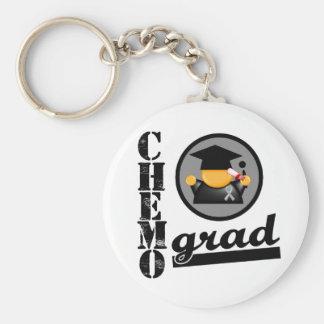 Chemo Grad Brain Cancer Ribbon Key Chains