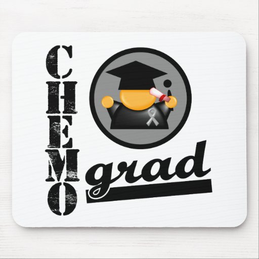 Chemo Grad Brain Cancer Ribbon Mouse Pad