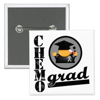 Chemo Grad Brain Cancer Ribbon Pins