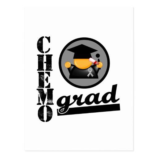Chemo Grad Brain Cancer Ribbon Postcards