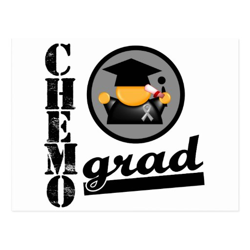 Chemo Grad Brain Cancer Ribbon Post Card
