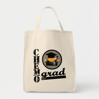 Chemo Grad Brain Cancer Ribbon Canvas Bag