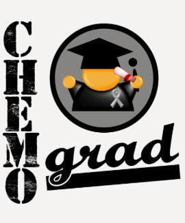 Chemo Grad Brain Cancer Ribbon Tee Shirt