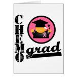 Chemo Grad Breast Cancer Ribbon Greeting Card