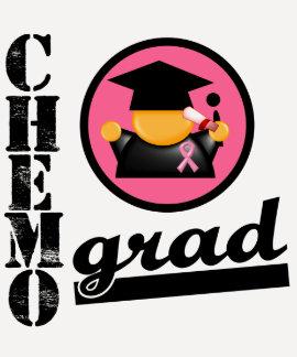 Chemo Grad Breast Cancer Ribbon Tees