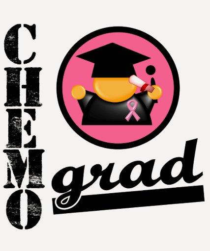 Chemo Grad Breast Cancer Ribbon T-shirt