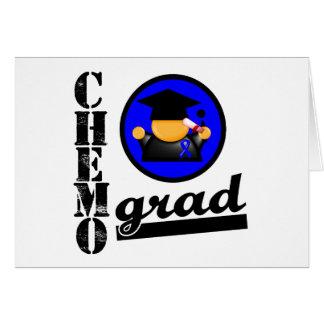 Chemo Grad Colon Cancer Ribbon Greeting Card