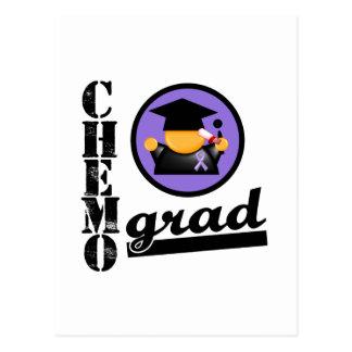 Chemo Grad Hodgkin's Lymphoma Ribbon Postcard