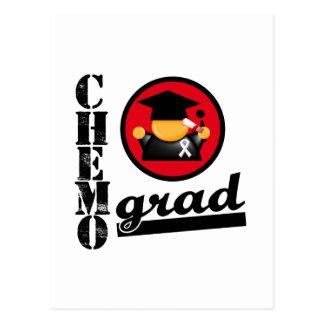 Chemo Grad Lung Cancer Ribbon Postcards