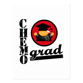 Chemo Grad Melanoma Ribbon Postcard