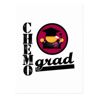 Chemo Grad Multiple Myeloma Ribbon Postcard
