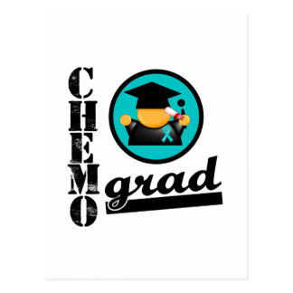 Chemo Grad Ovarian Cancer Ribbon Post Cards