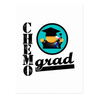 Chemo Grad Thyroid Cancer Ribbon Postcard