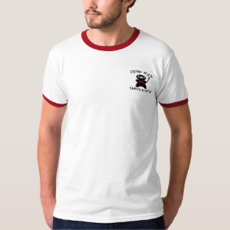 Chemo Ninja Cancer Assassin Ringer T-Shirt