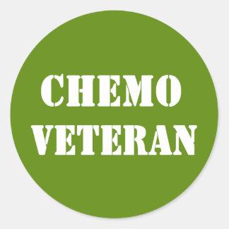 Chemo Veteran Round Sticker