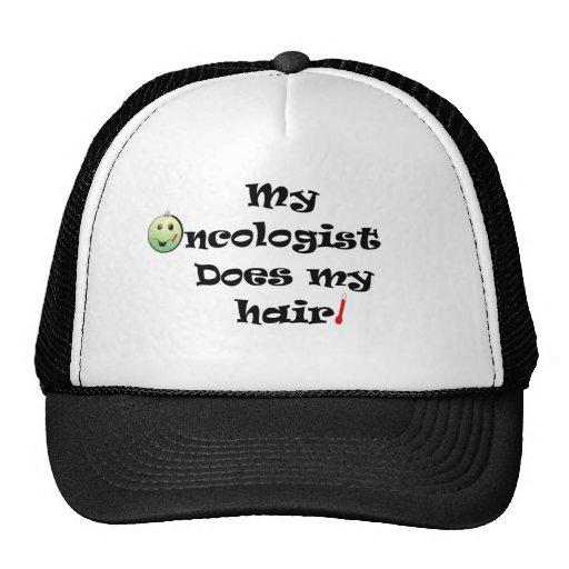 ChemoHair Blk Ltrs Mesh Hat