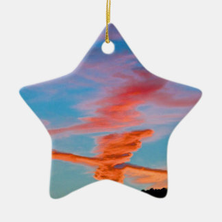 Chemtrail Sunset Christmas Ornament