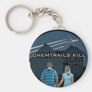 CHEMTRAILS KILL BASIC ROUND BUTTON KEY RING