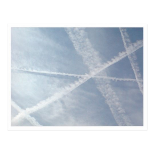 Chemtrails Over Spain Postcard